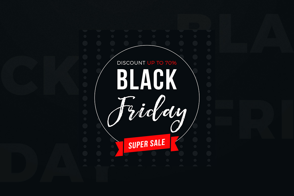 4 Black Friday Sale Banners Set example image 5