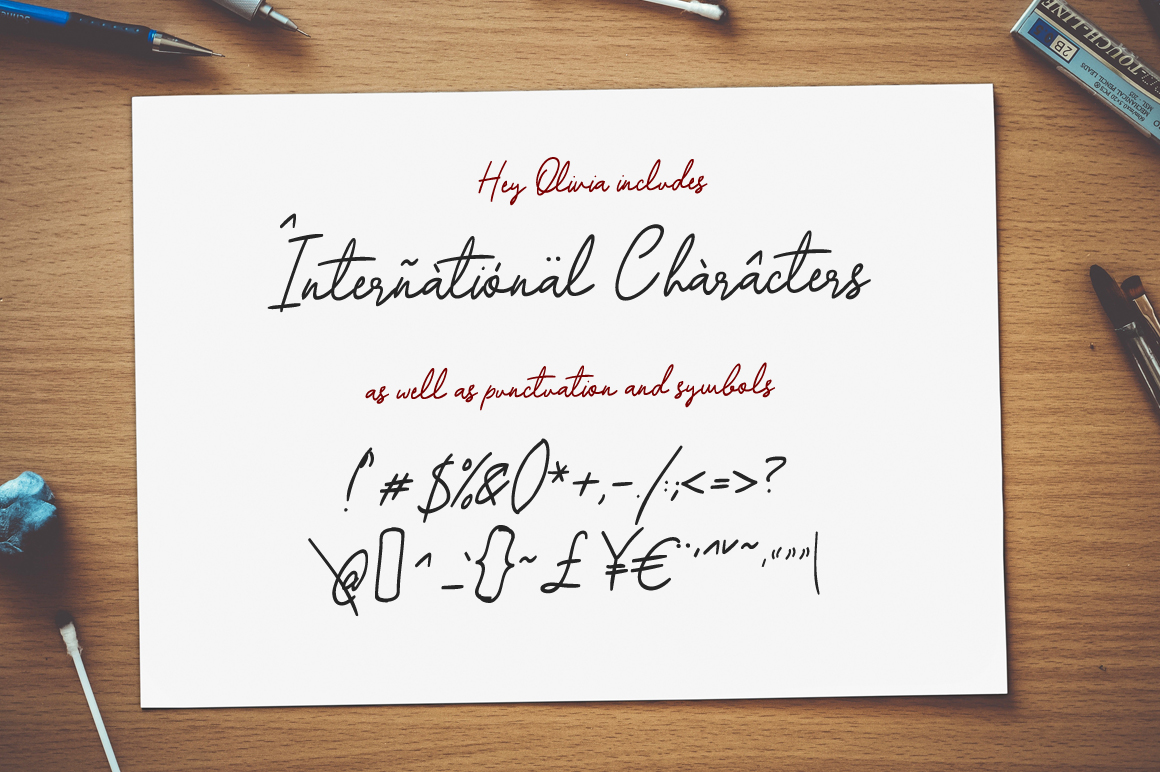 Hey Olivia - a classy handwriting font example image 6