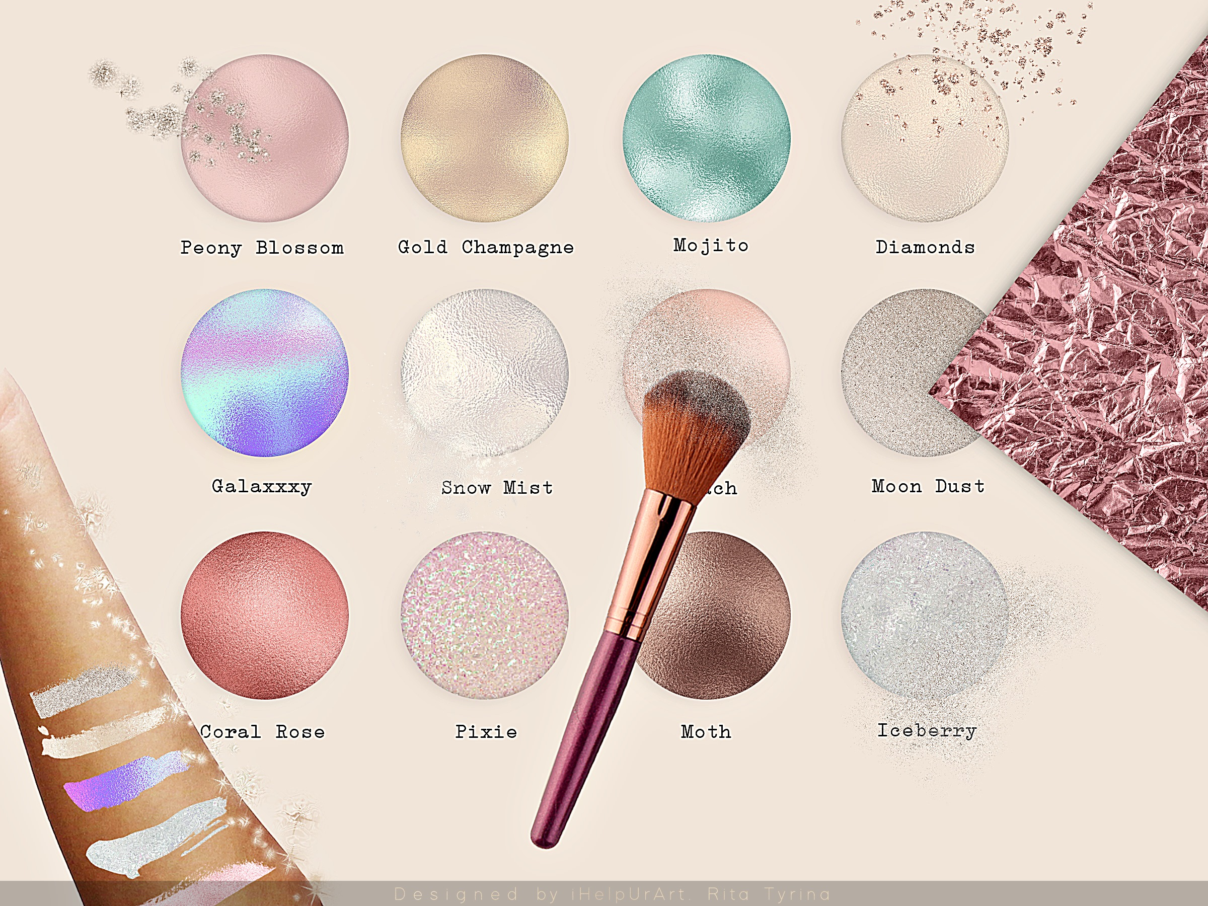 Glamour Textures Bundle example image 2