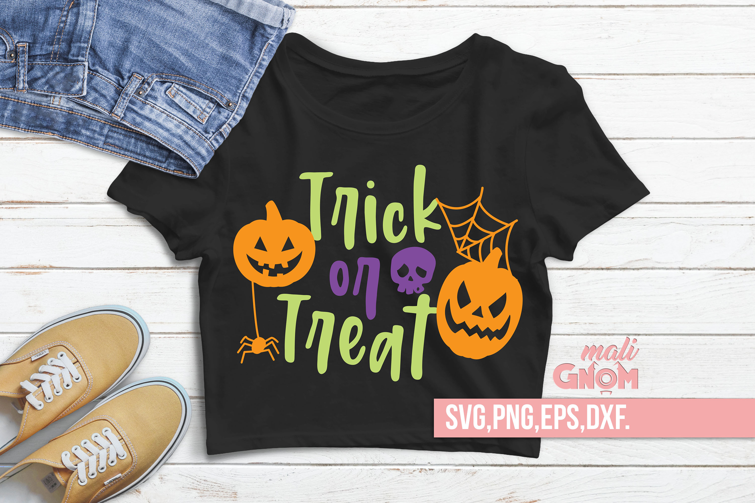 Trick or Treat SVG, Halloween SVG file, Trick or Treat Bag S example image 2