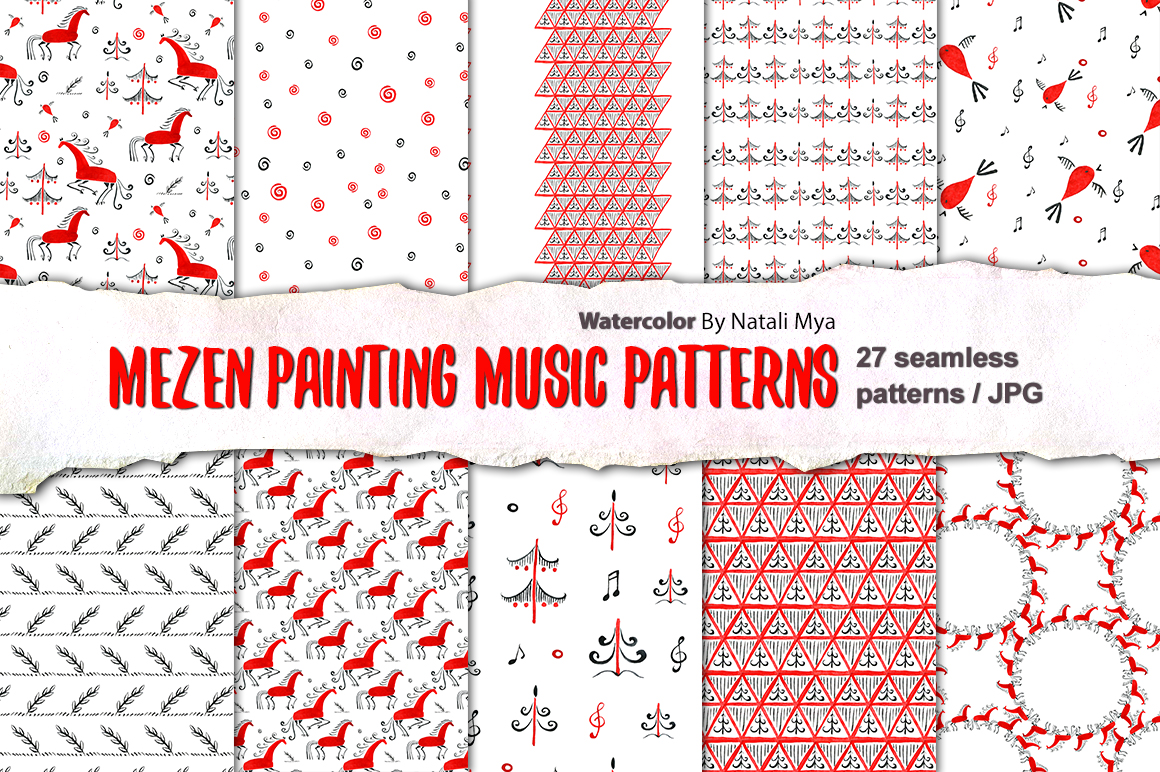 Mezen painting music patterns example image 1