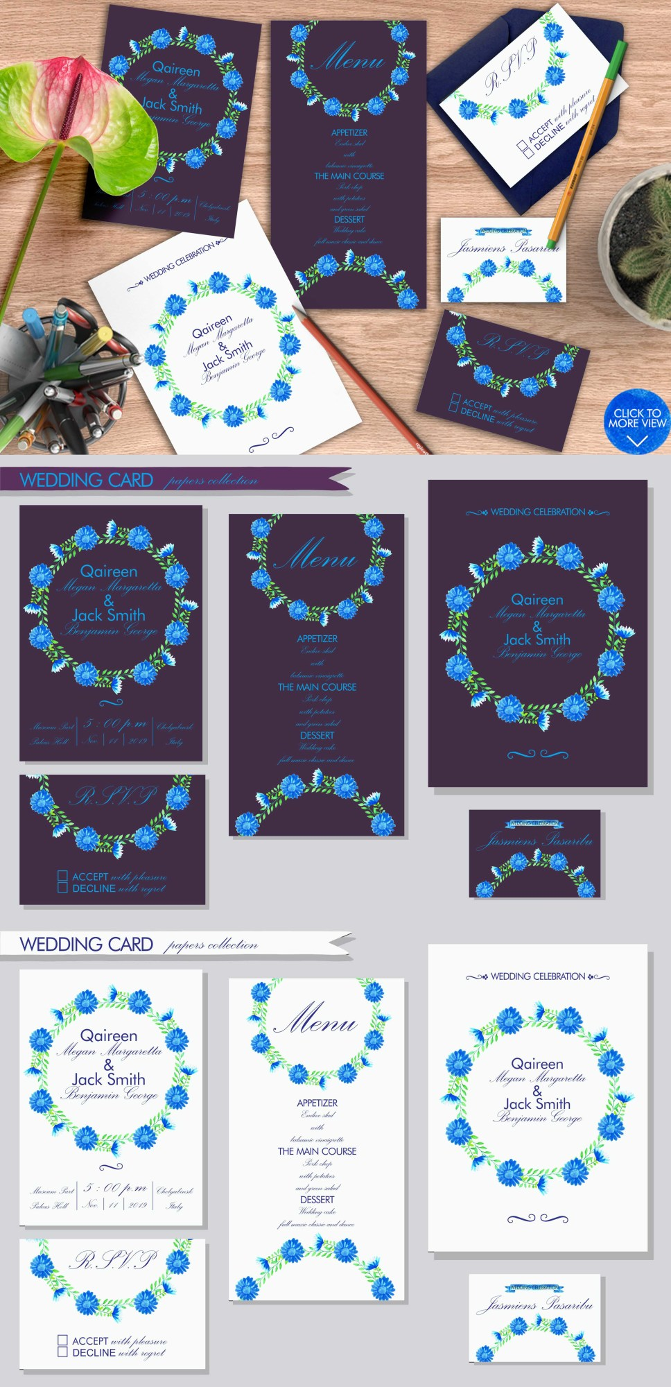 Simple Blue Floral example image 9