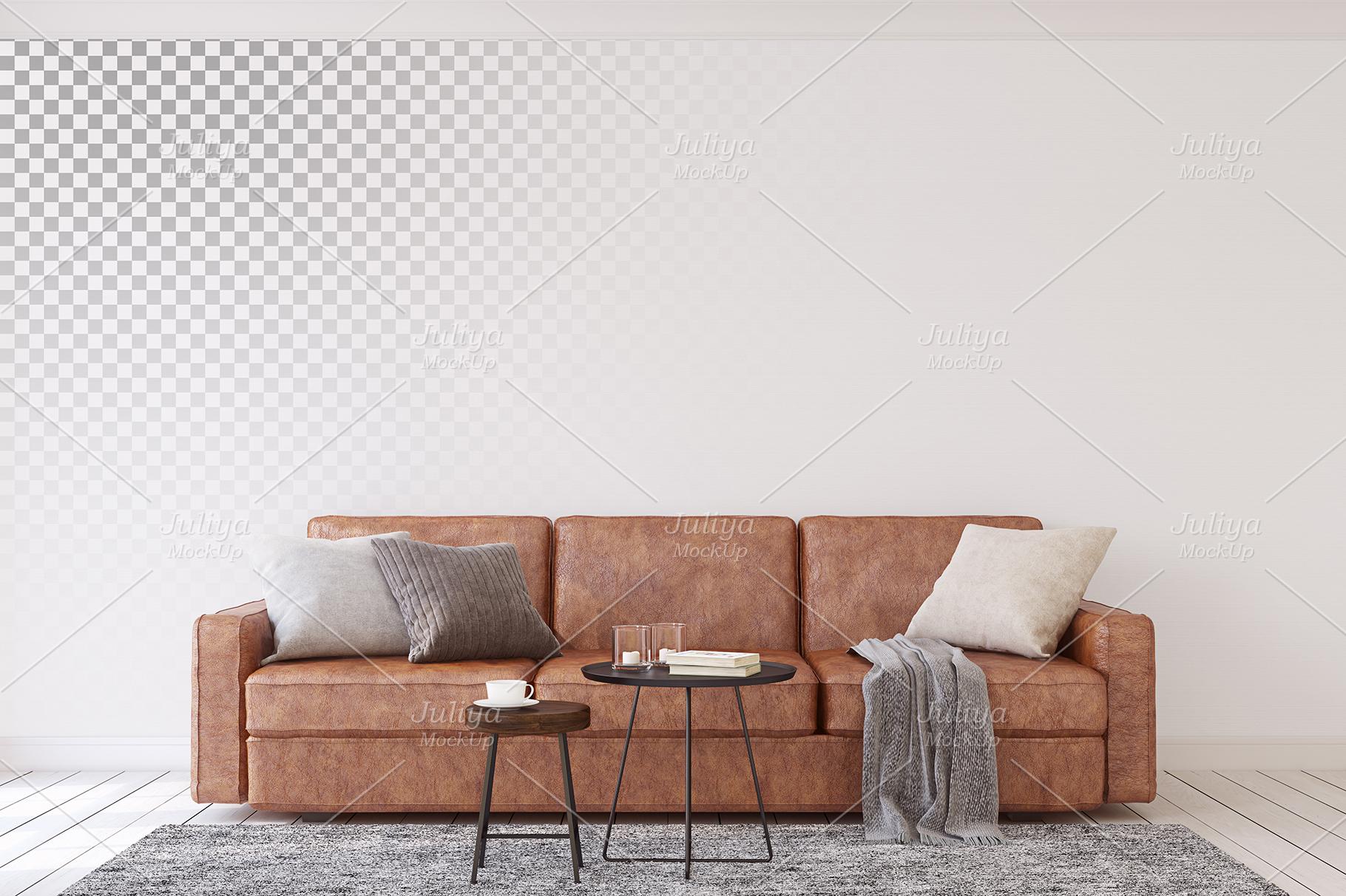 Men's Interior. Wall&Frames Mockup. example image 2