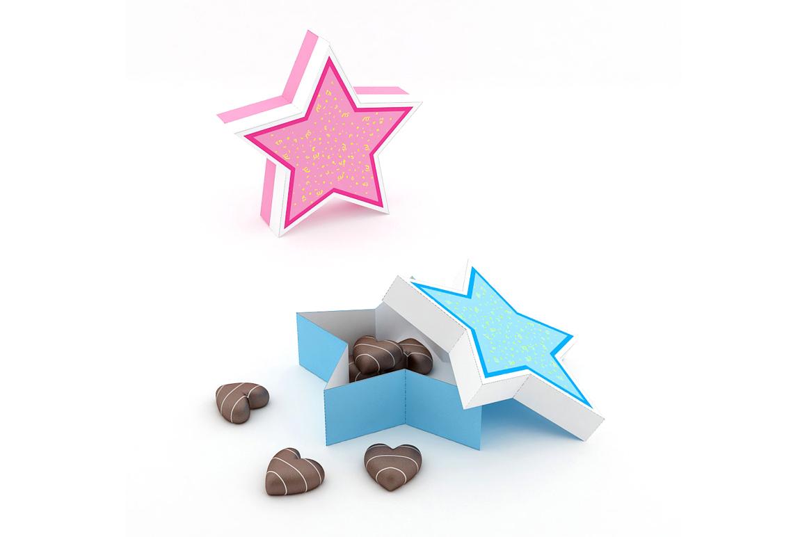 DIY Star Favor - 3d papercraft example image 2