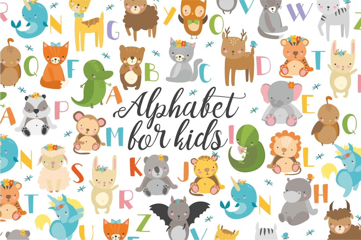 Alphabet animals for kids example image 1