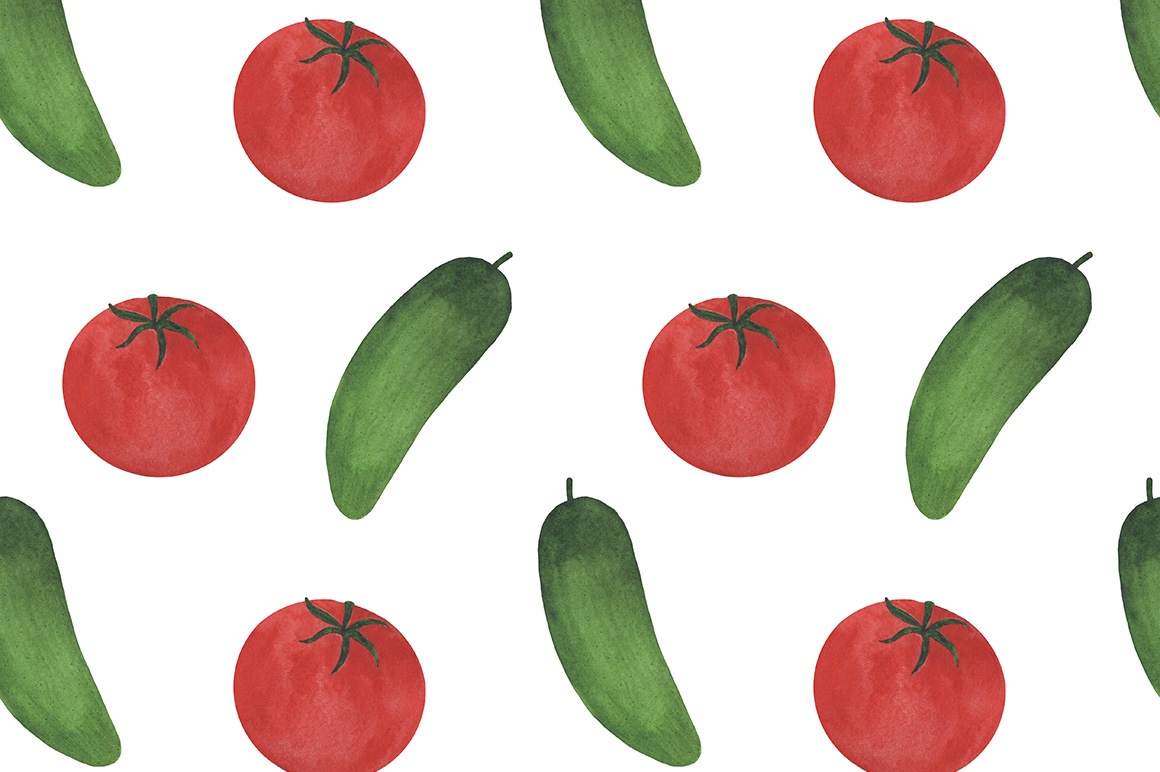 Watercolor vegetables collection example image 9