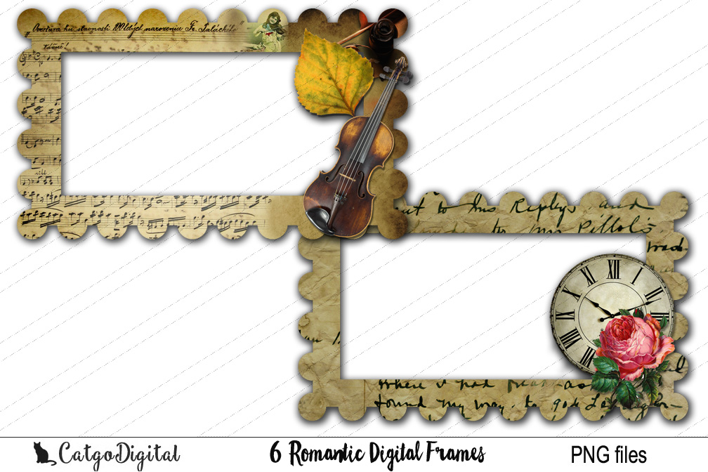 Digital Frames Clip Art PNG files example image 2