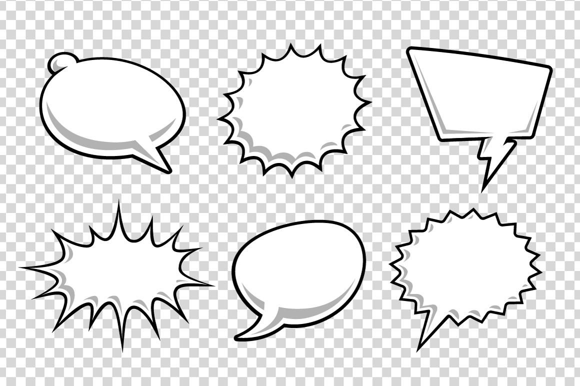 Comic Speech Bubbles example image 9