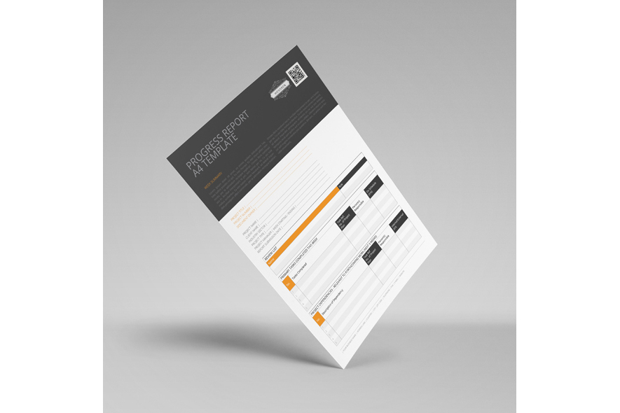 Progress Report A4 Template example image 2