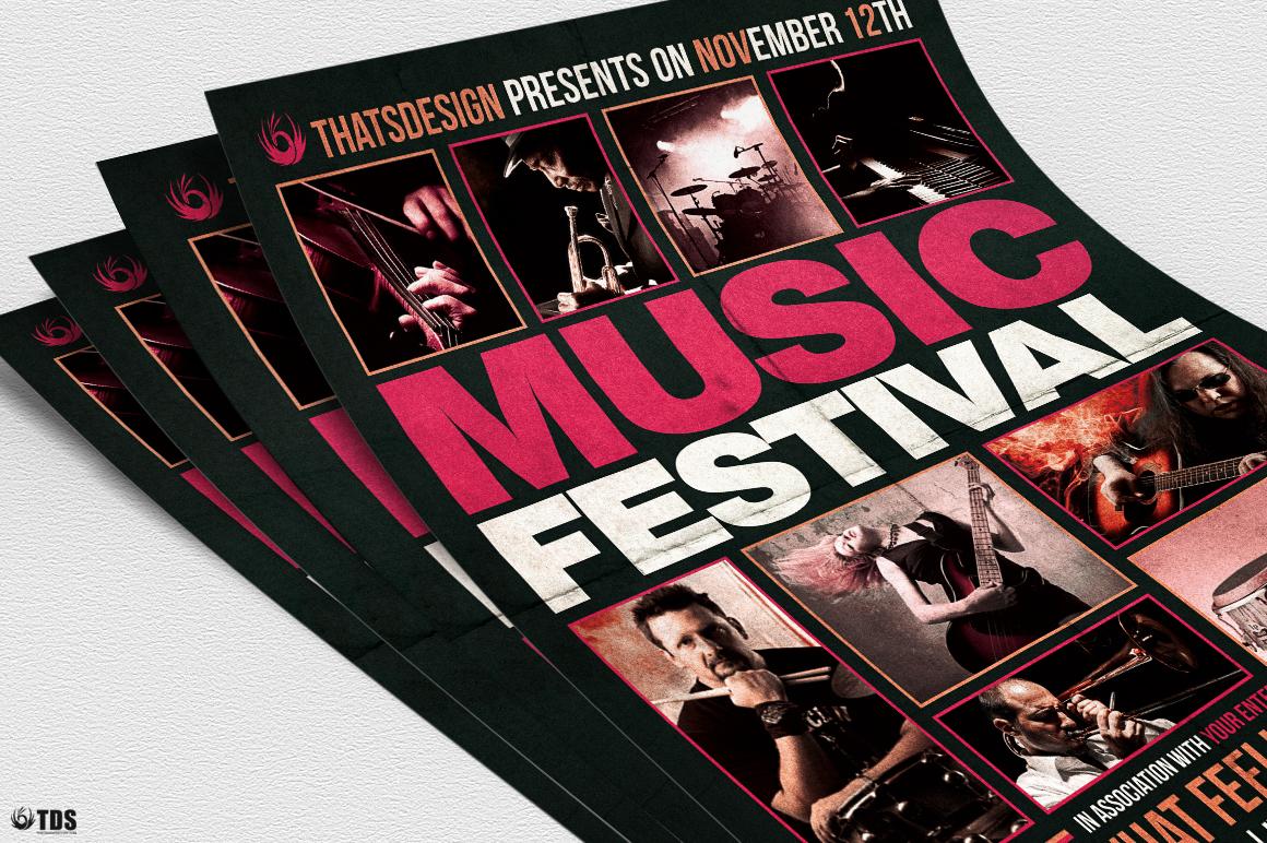 Music Festival Flyer Template V18 example image 5