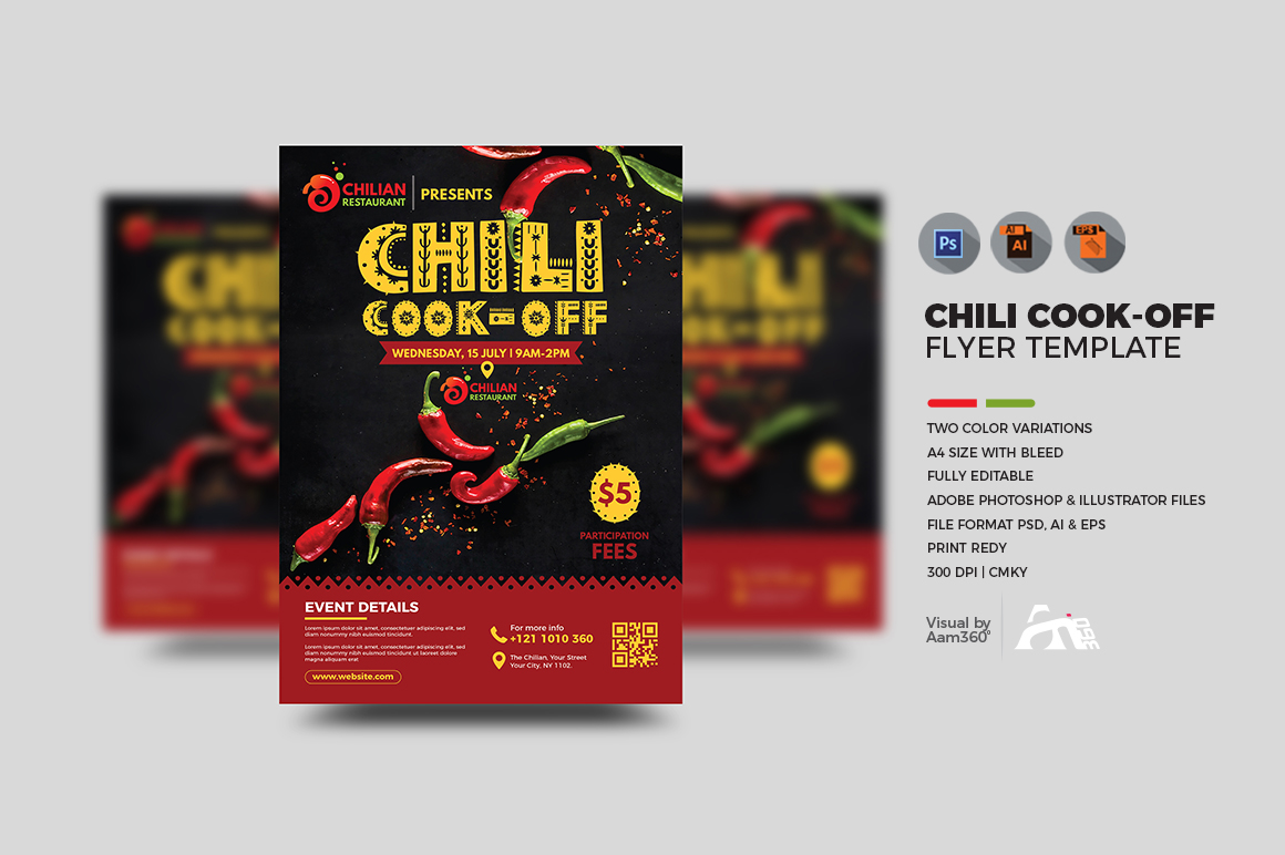 Chili Cook Off Flyer Template example image 1