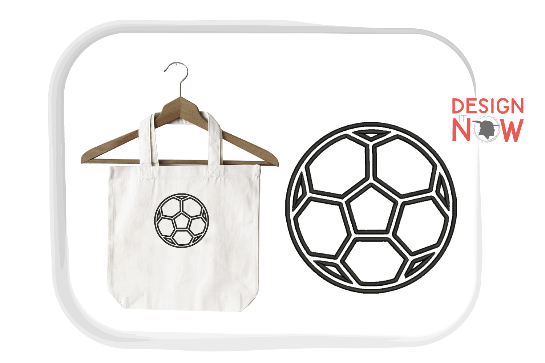 Soccerball Applique Design, Sport Embroidery, Ball Applique example image 3