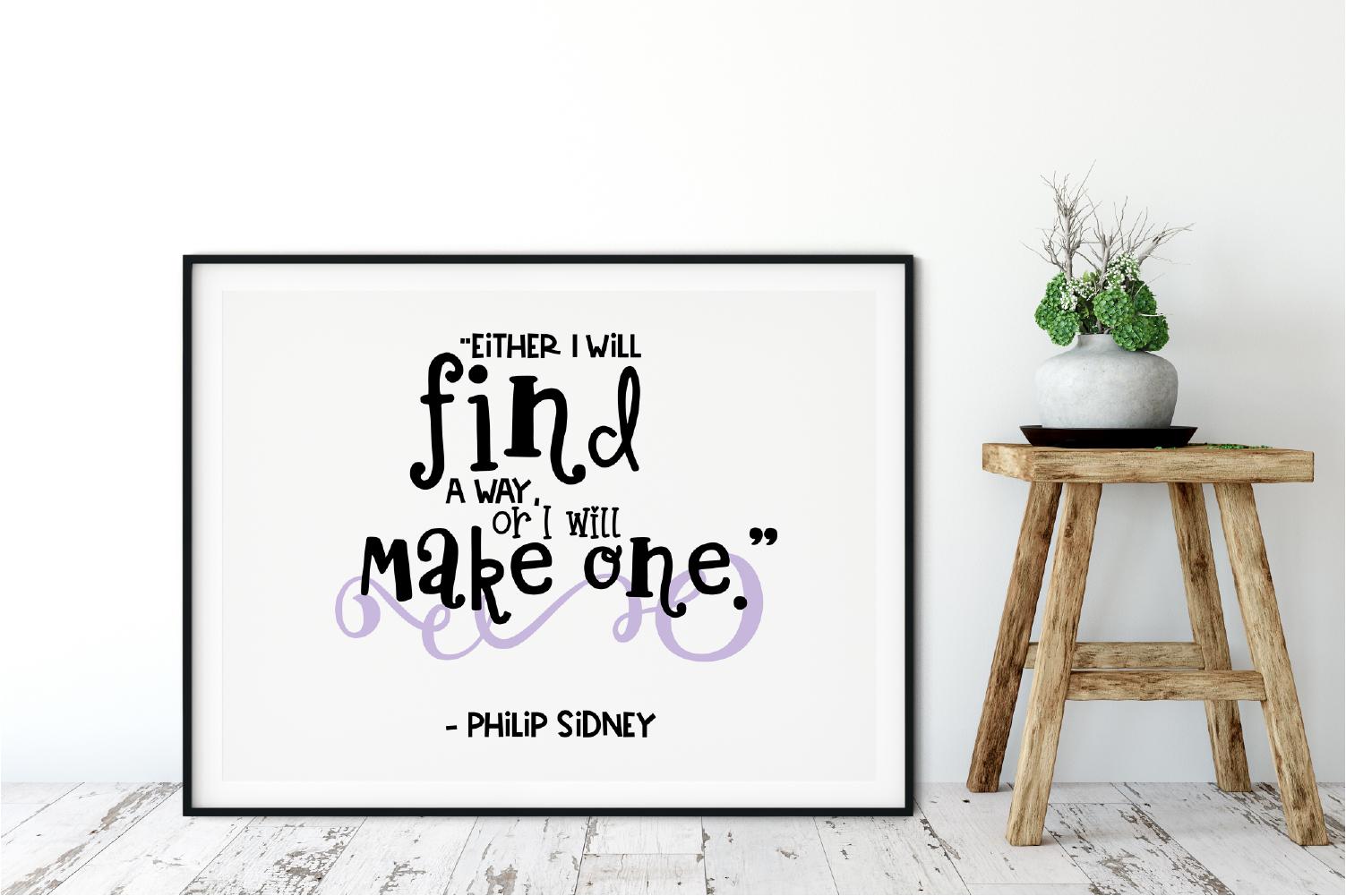 Motivational Quote Digital Print / Clip Art / Cut file example image 2