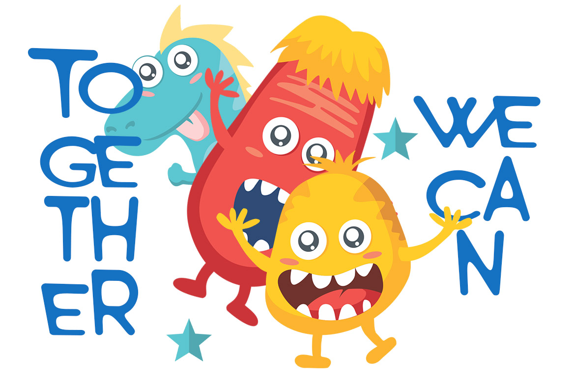 Monster World Font Family & Fun Vector Pack example image 3