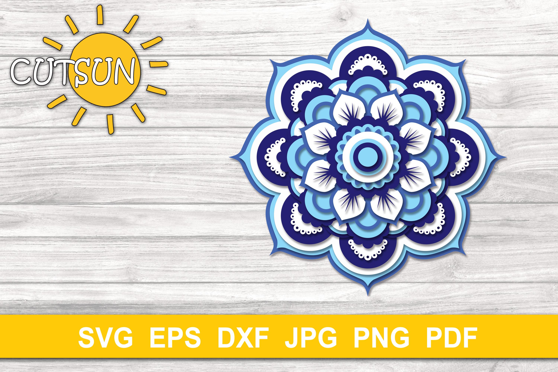 Download Mandala SVG | 3D Layered Mandala SVG cut file