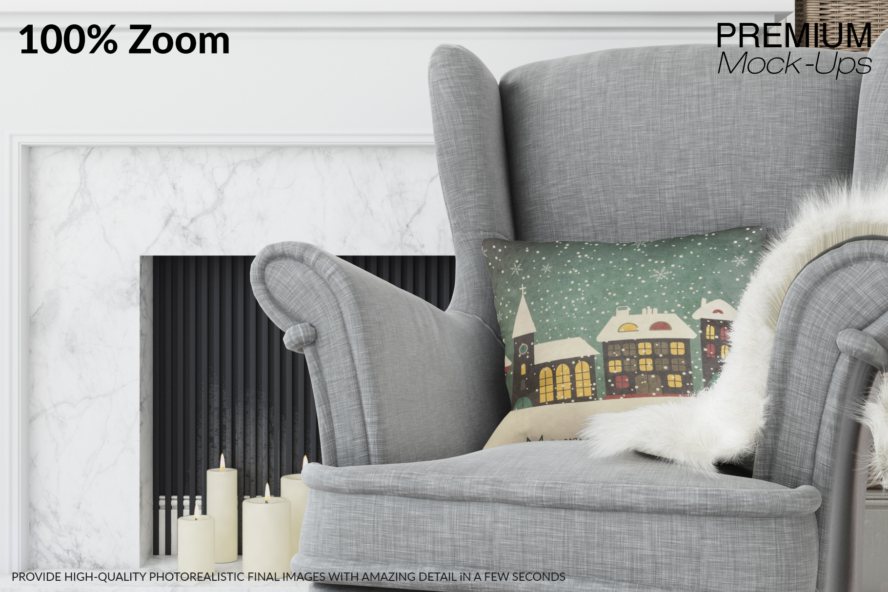 Christmas Living Room - Pillow & Frames Set example image 4