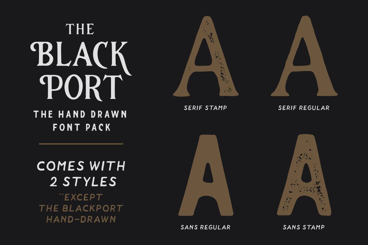 The Blackport Font Pack and EXTRA! example image 3