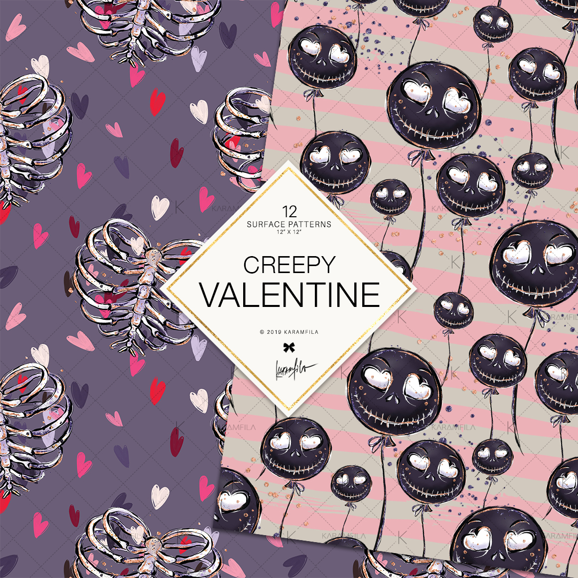 Creepy Valentine's Day Patterns example image 6