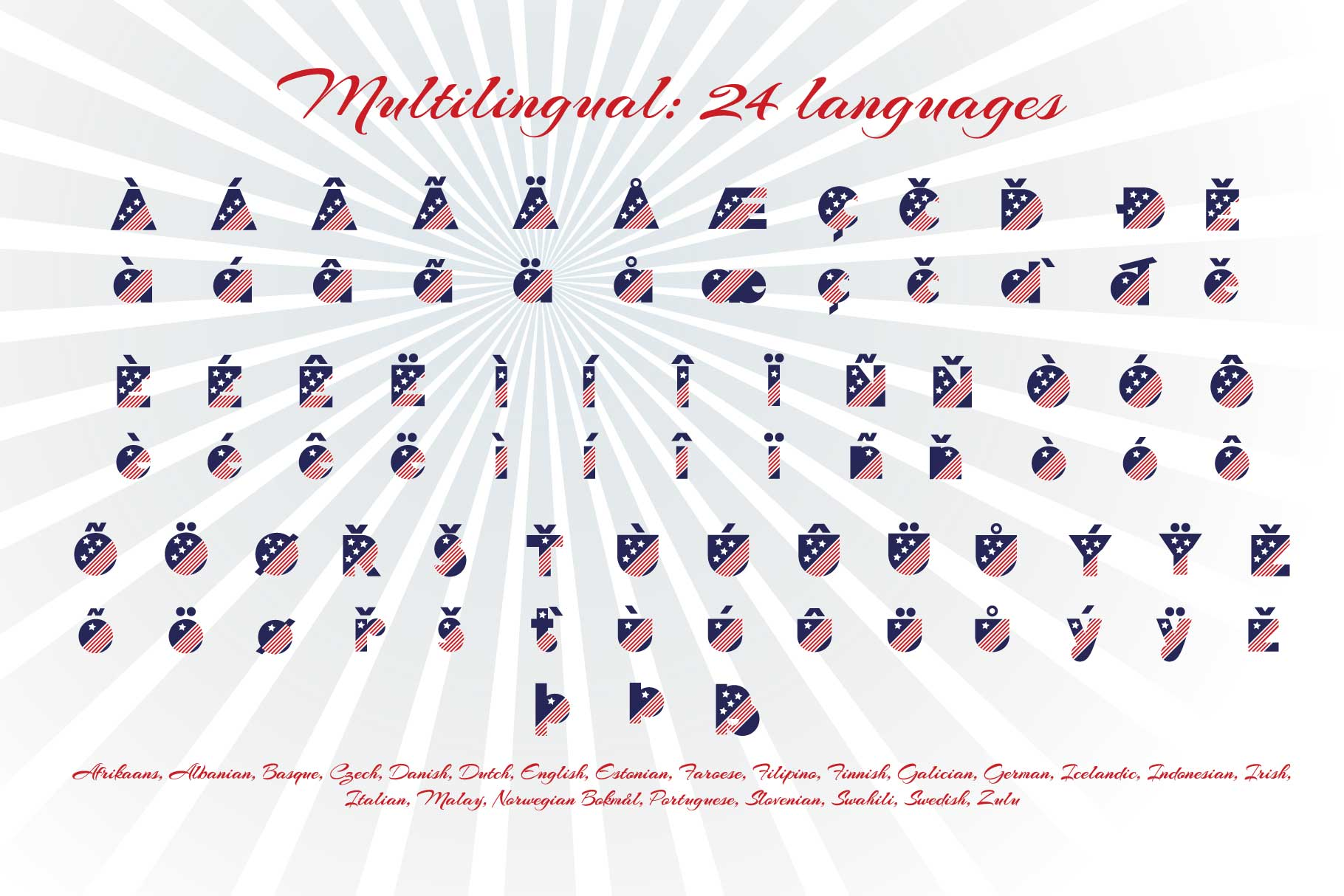 Patriot font family example image 9