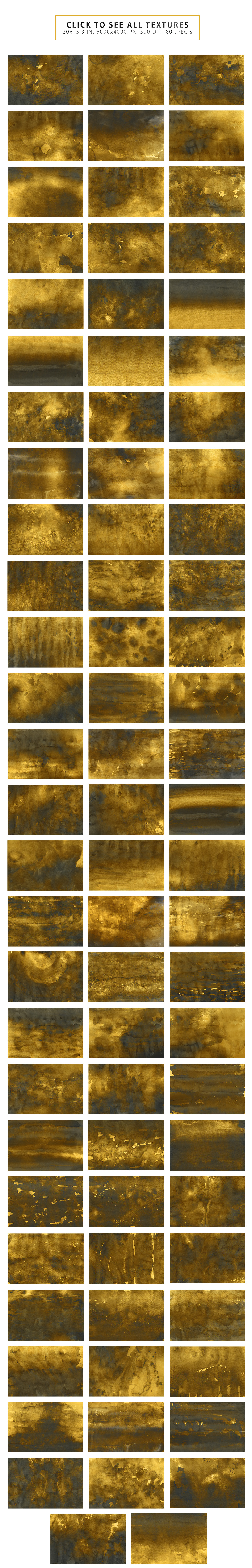 Golden Watercolor & Ink Backgrounds example image 2