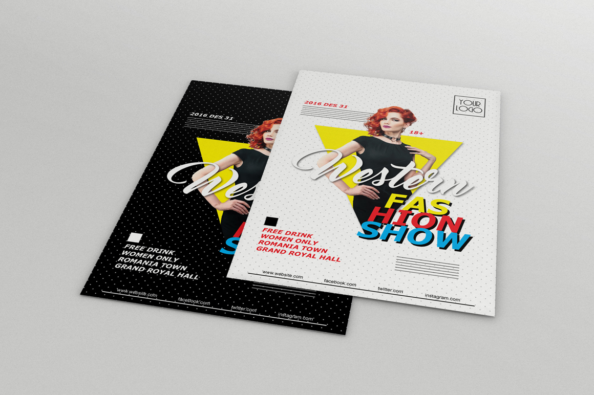 Fashion Show Flyers - v2 example image 2