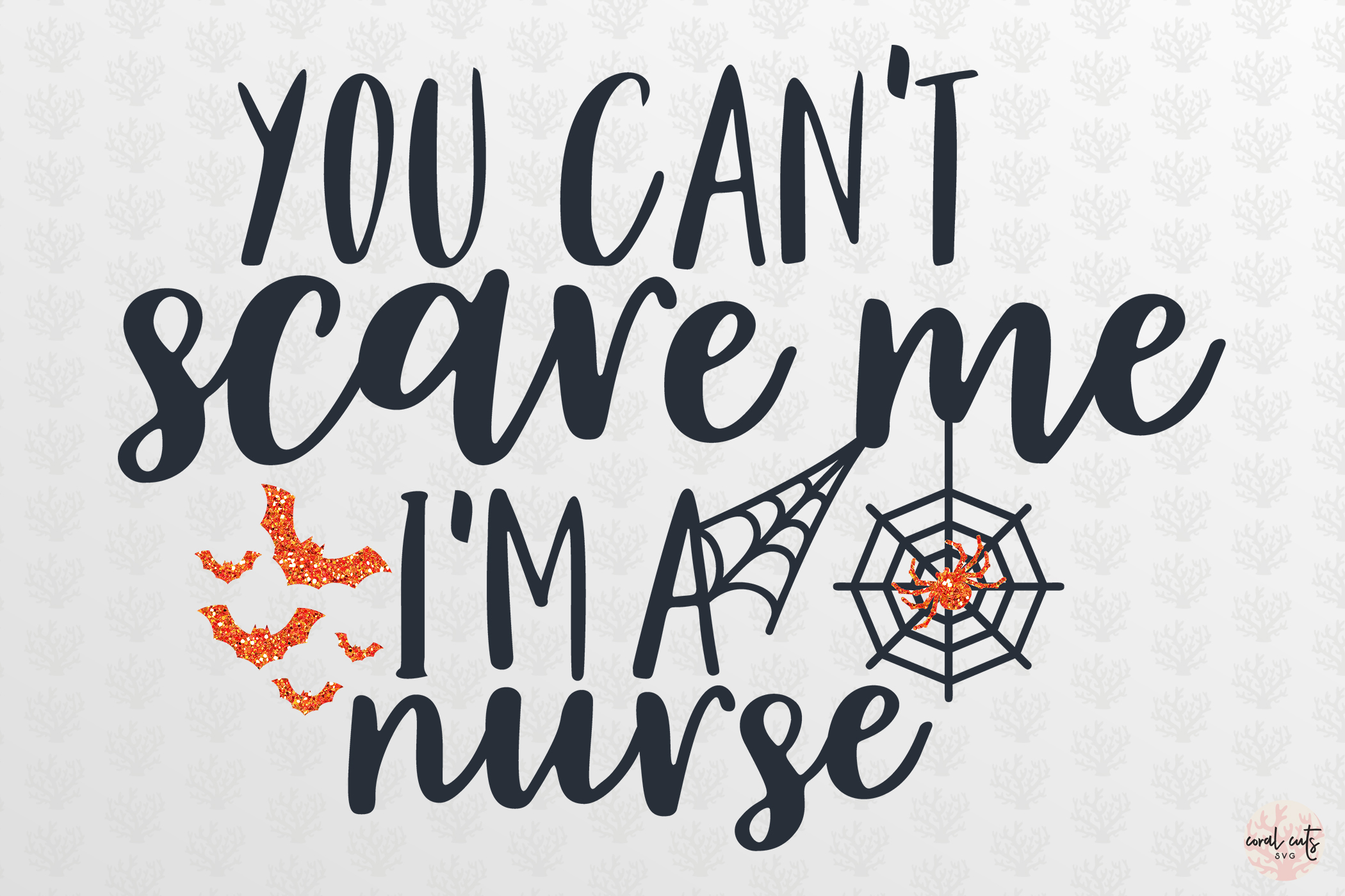 You Cant Scare Me I AM Nurse - Halloween SVG EPS DXF PNG example image 2
