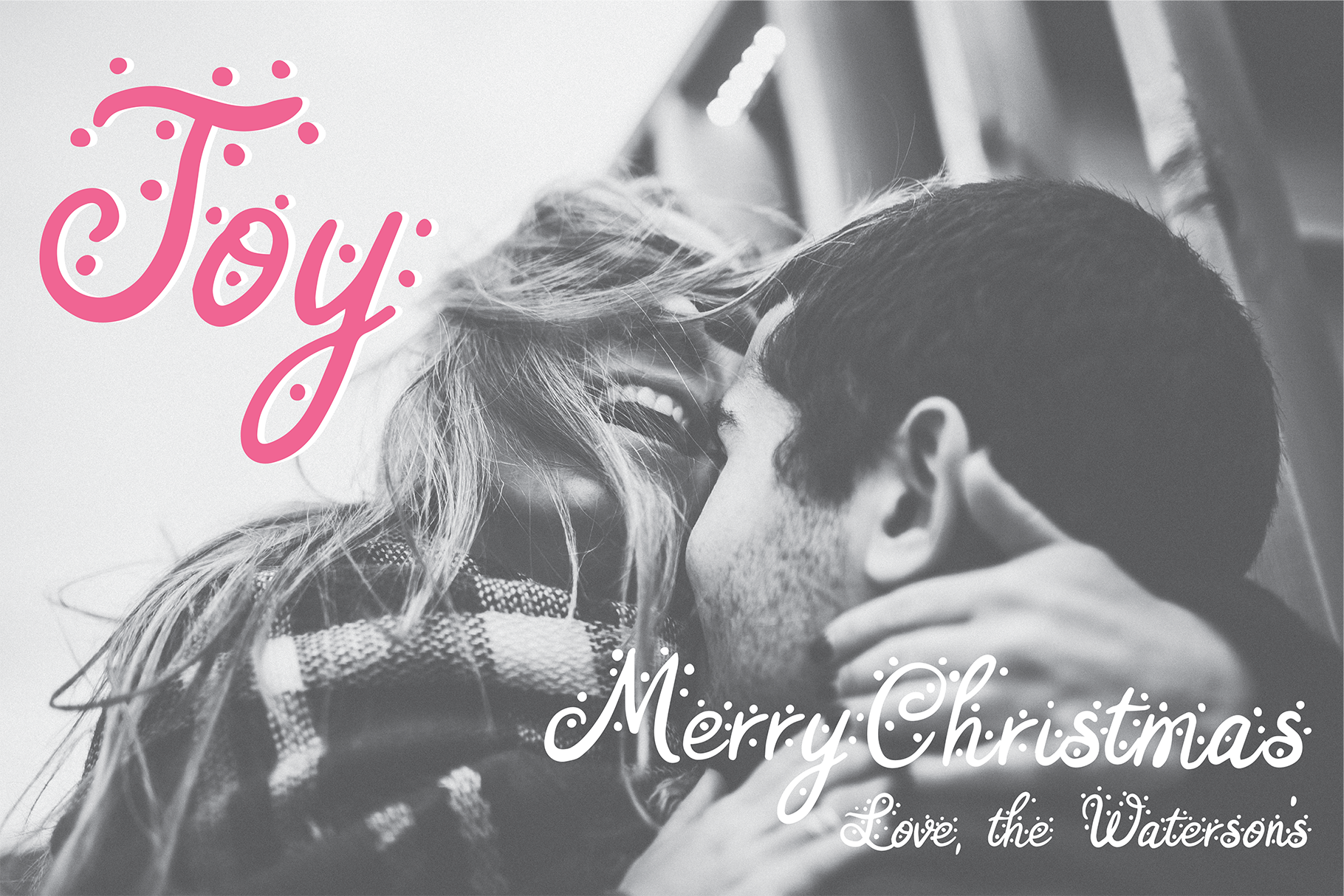 AFTERGLOW a Christmas Snow Holiday Font example image 2