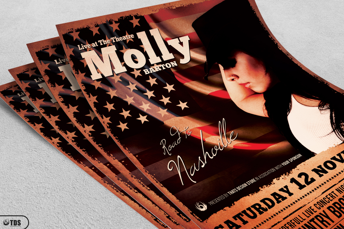 Country Live Flyer Template V2 example image 3