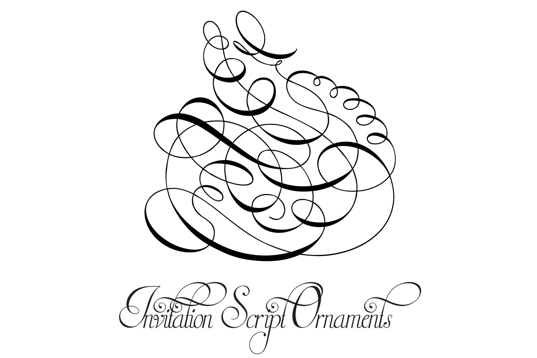 Invitation Script Ornaments  example image 6