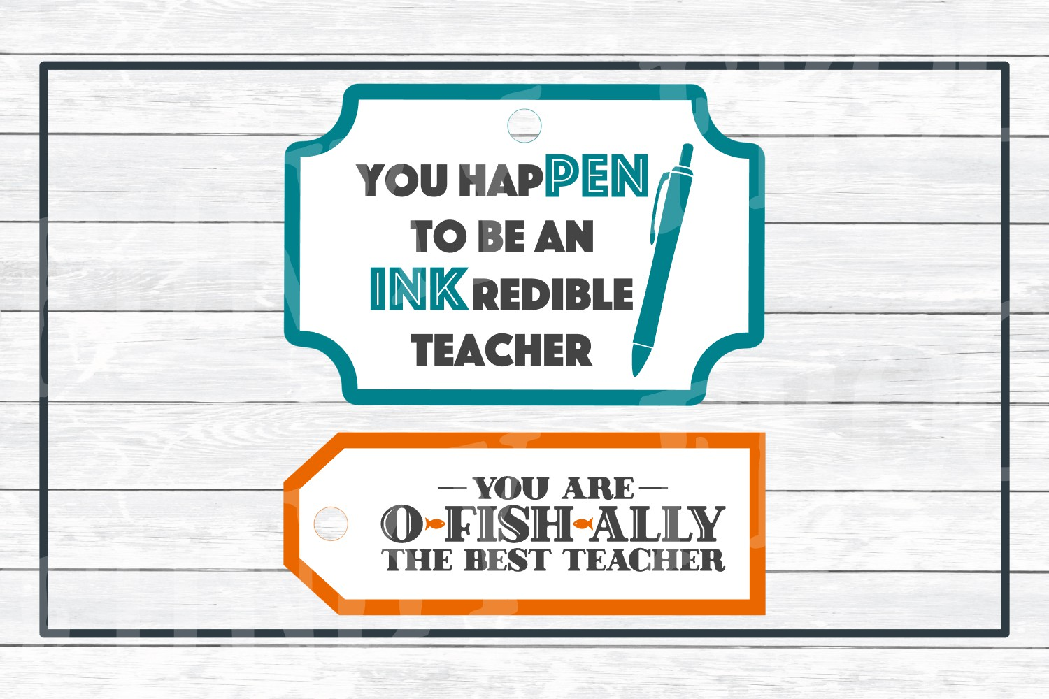 Teacher Appreciation Gift Tags-Print and Cut, SVG Cut Files example image 7