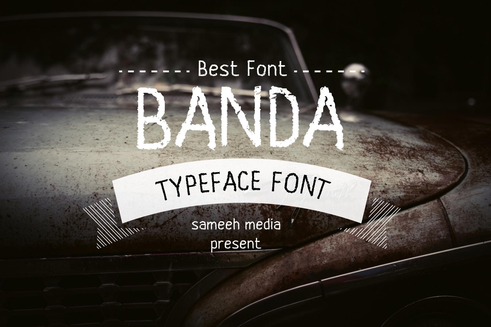 Banda Typeface Font example image 1