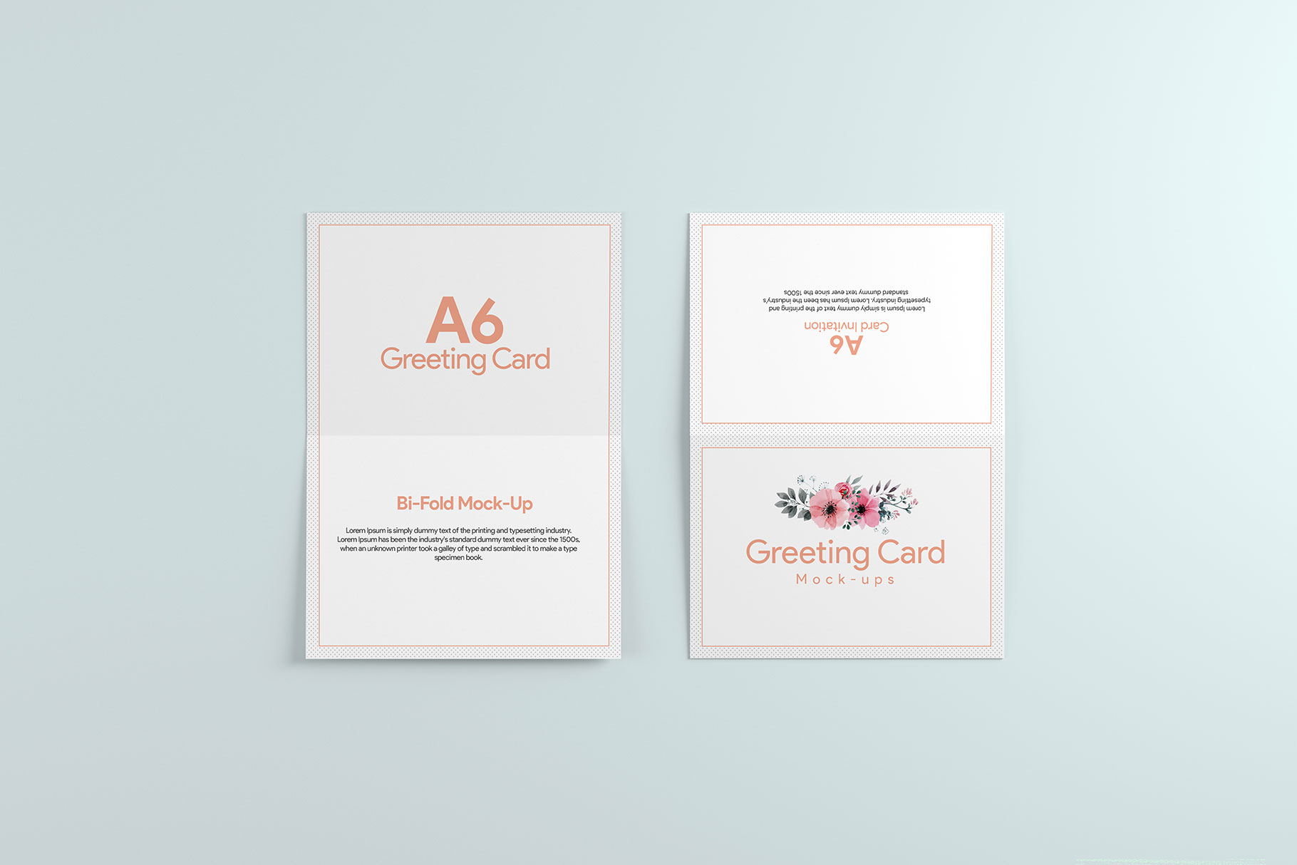 A6 Greeting Card Invitation X2 example image 1