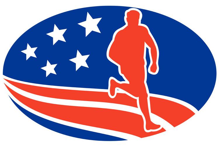 American Marathon runner stars stripes example image 1