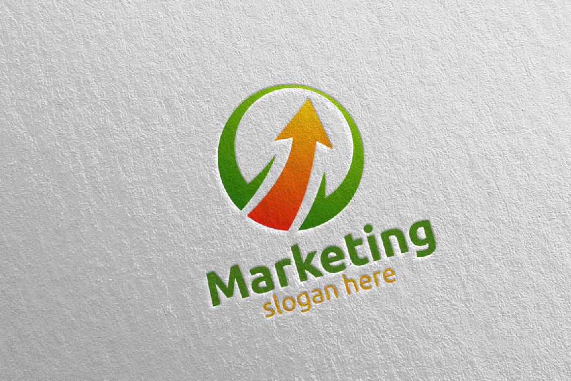 Marketing Financial Advisor Logo Design 28 example image 2