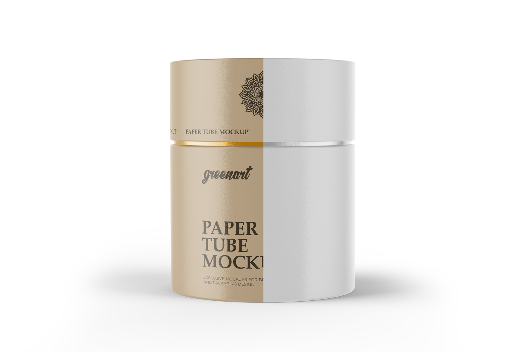 Paper Tube Mockup - Front View example image 2