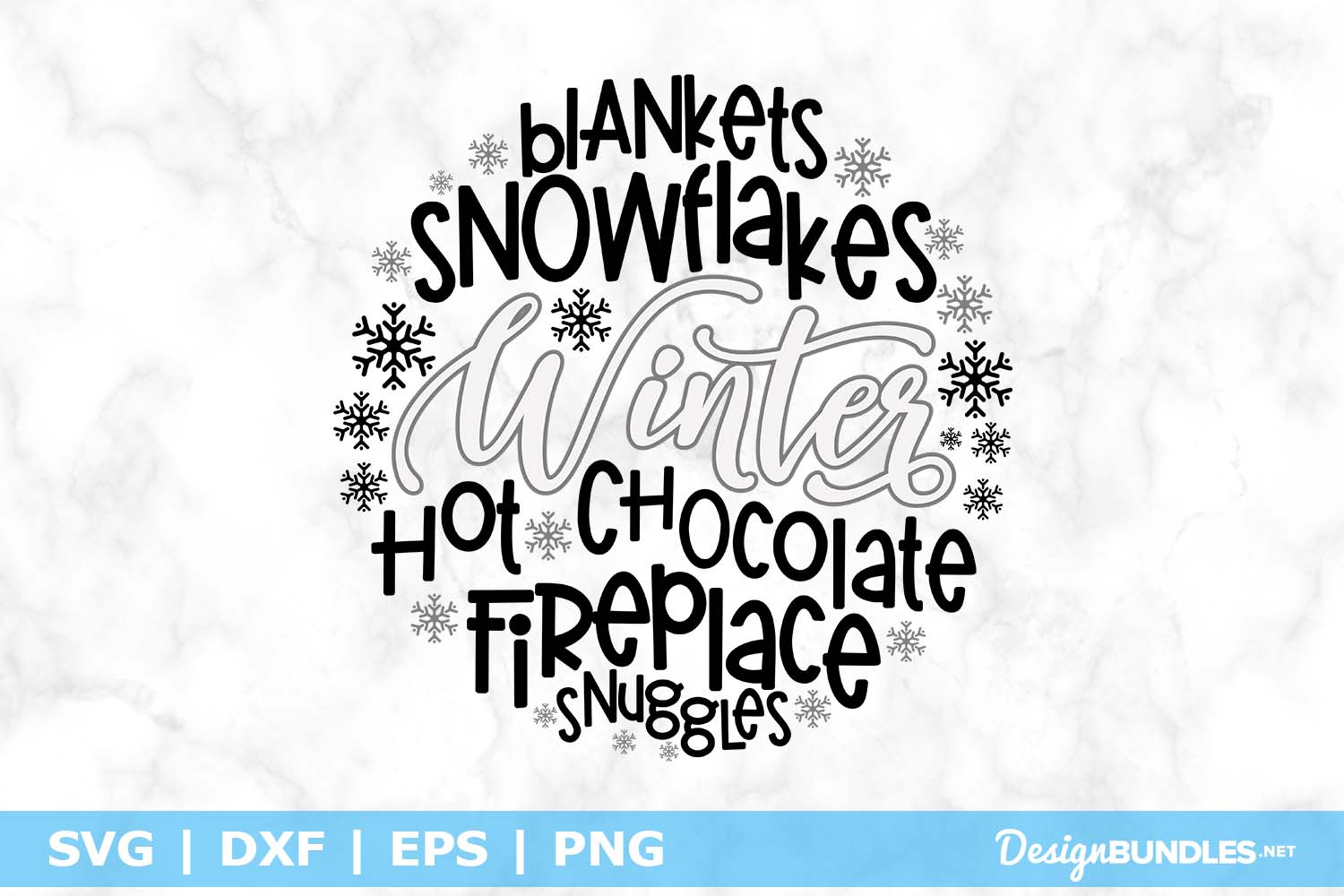 Winter Round SVG File example image 1