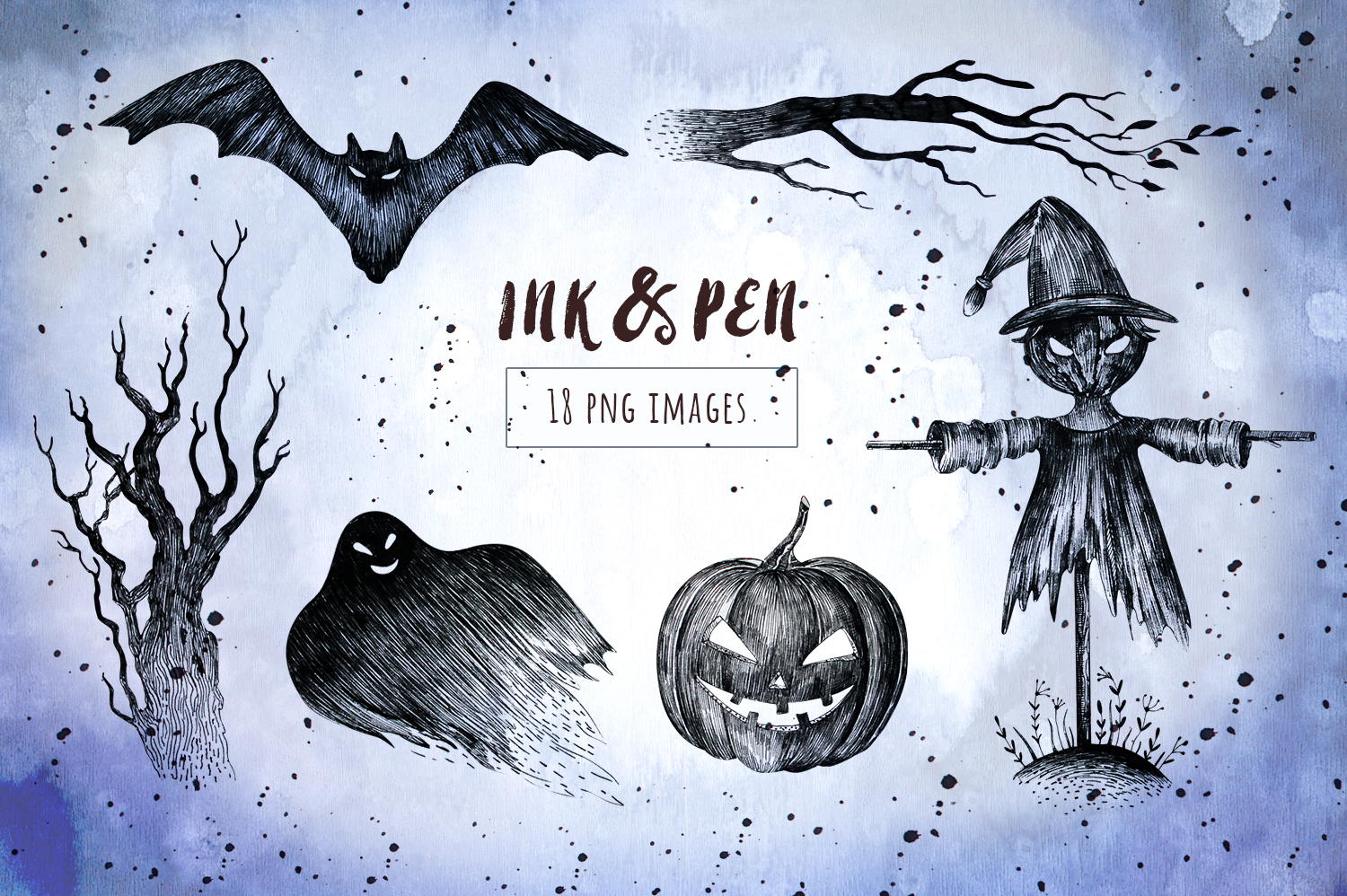 Halloween Ink & Pen Collection example image 2