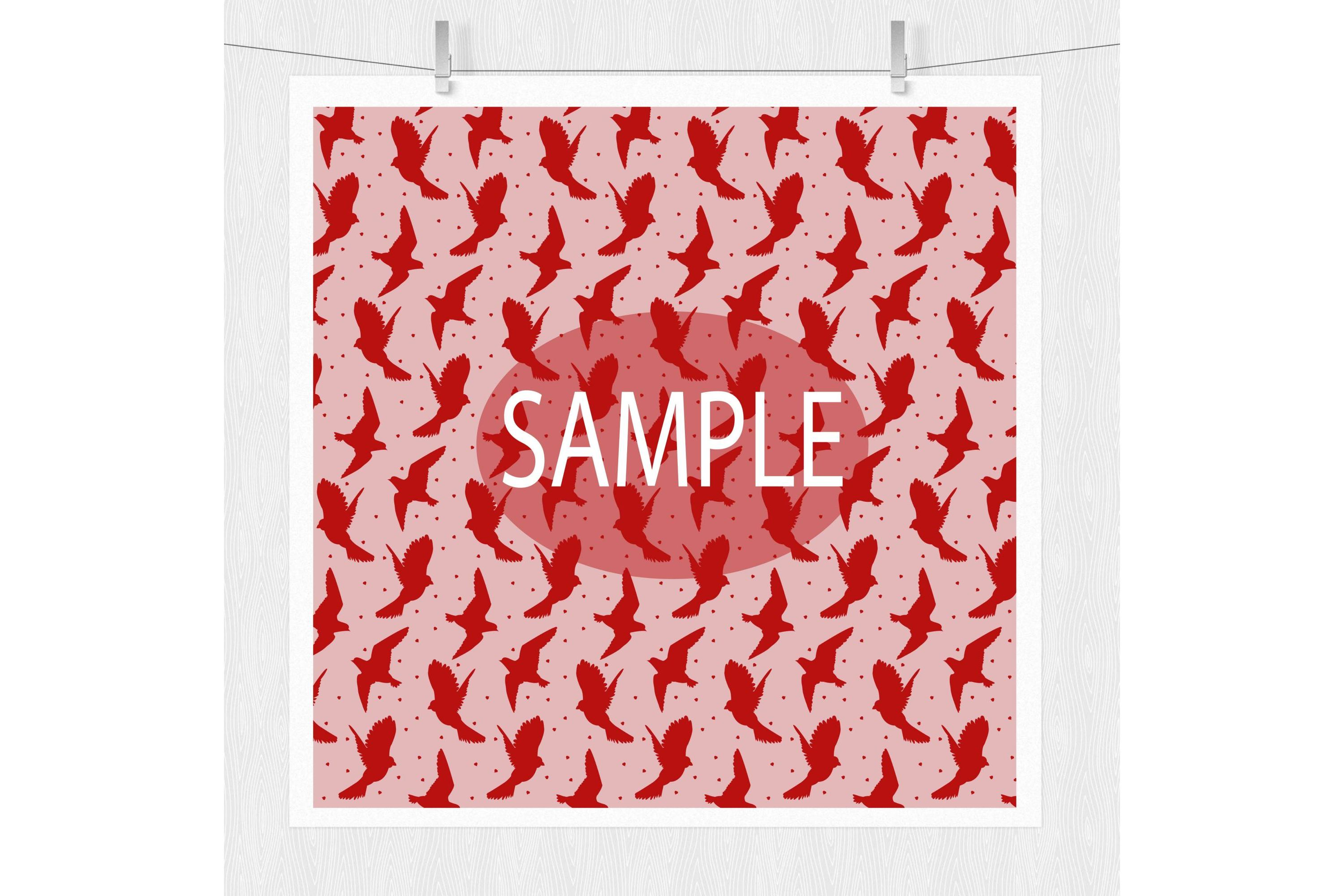 Valentine Digital Prints - Pink and Red Pattern Designs example image 2