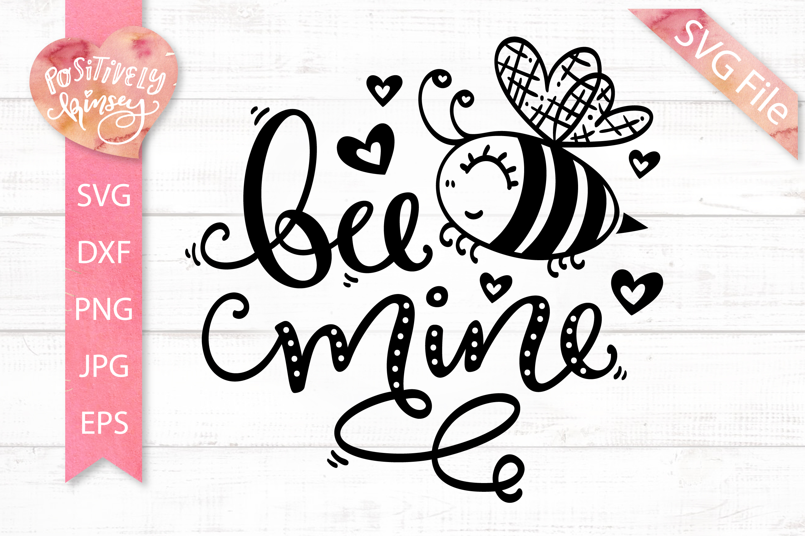 Valentine SVG, Bee Mine SVG, for Valentine's Shirts & Cards example image 2