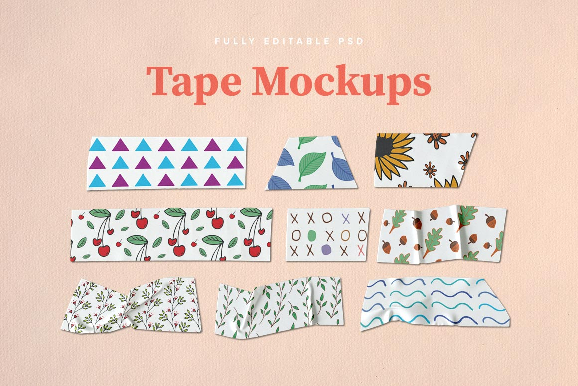 Washi Tape PSD Mockups example image 2