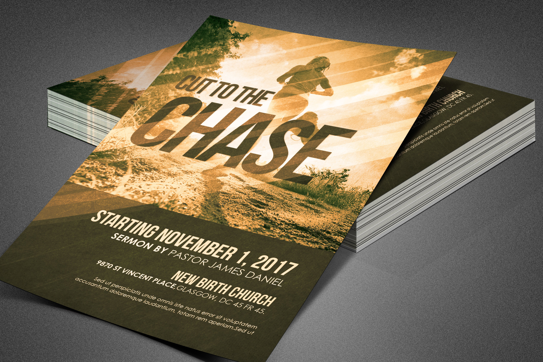 Cut to the Chase Church Flyer example image 2