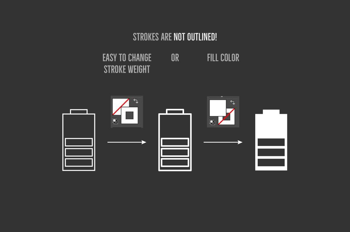 Battery Level Icons example image 4
