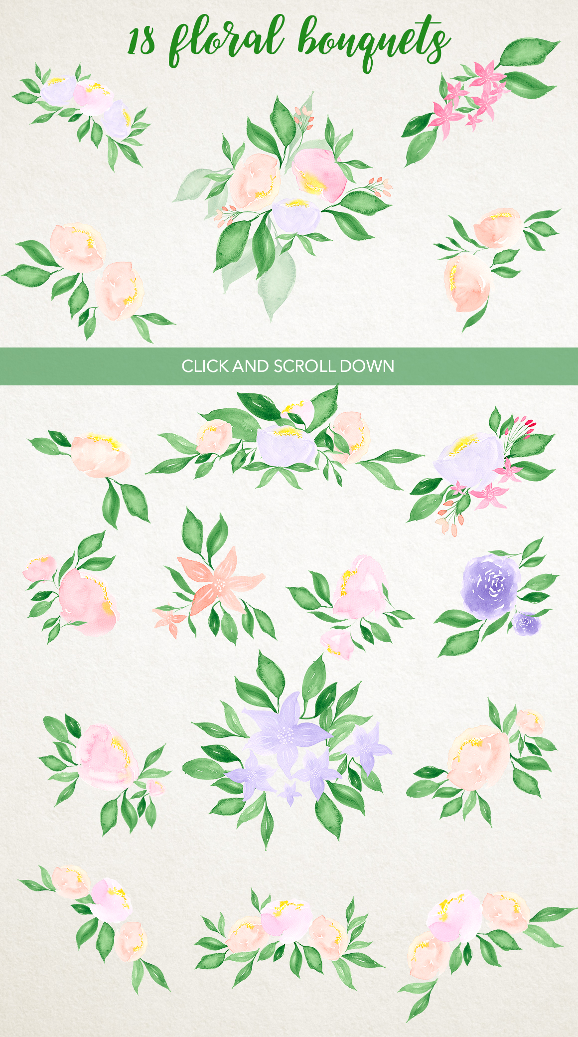 Watercolor fresh spring floral example image 5