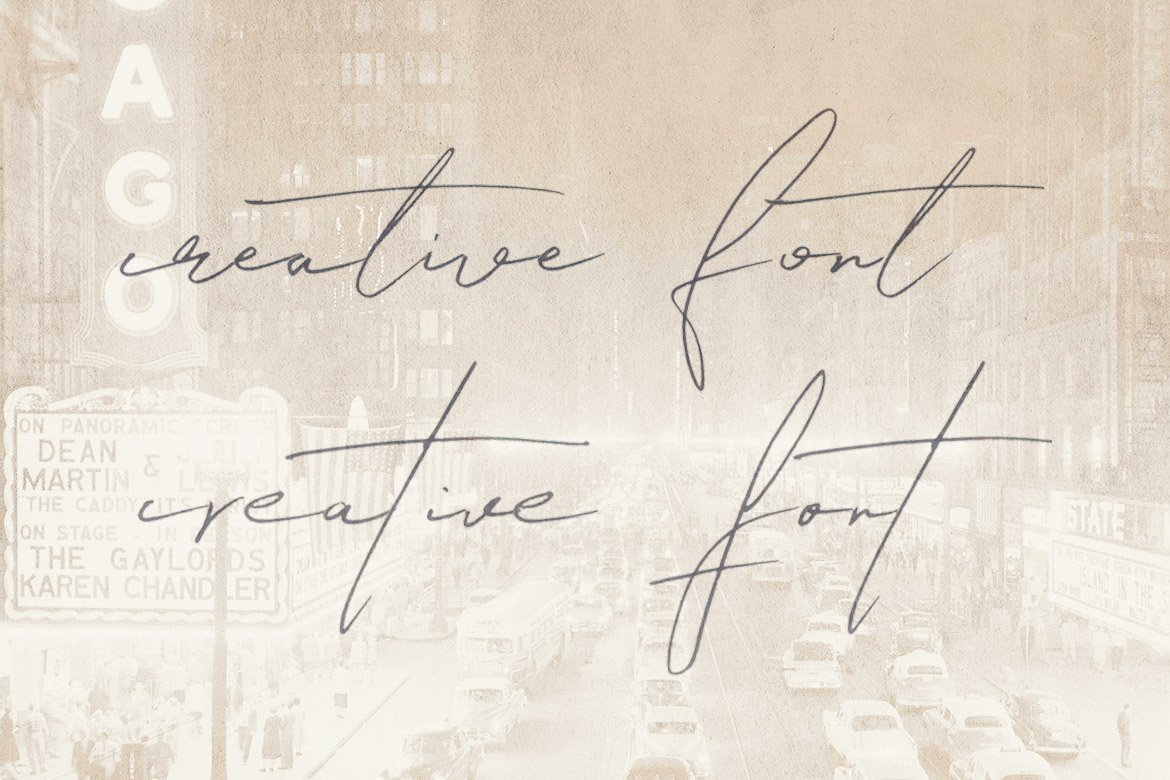 Relative Handwritten & SVG Font example image 3
