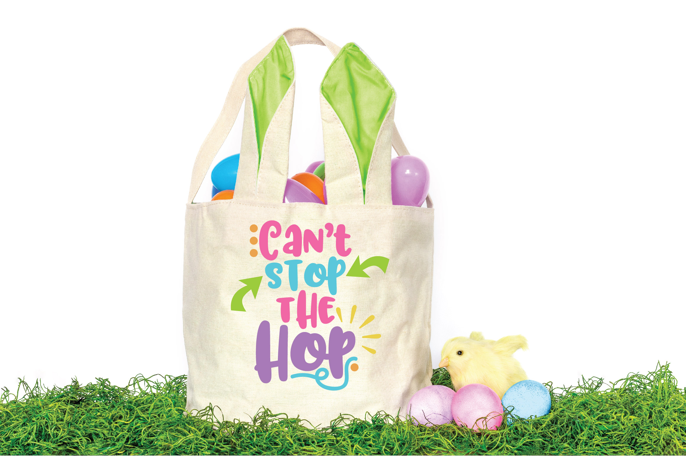 Easter SVG Cut File - Can't Stop the Hop SVG DXF EPS PNG AI example image 2