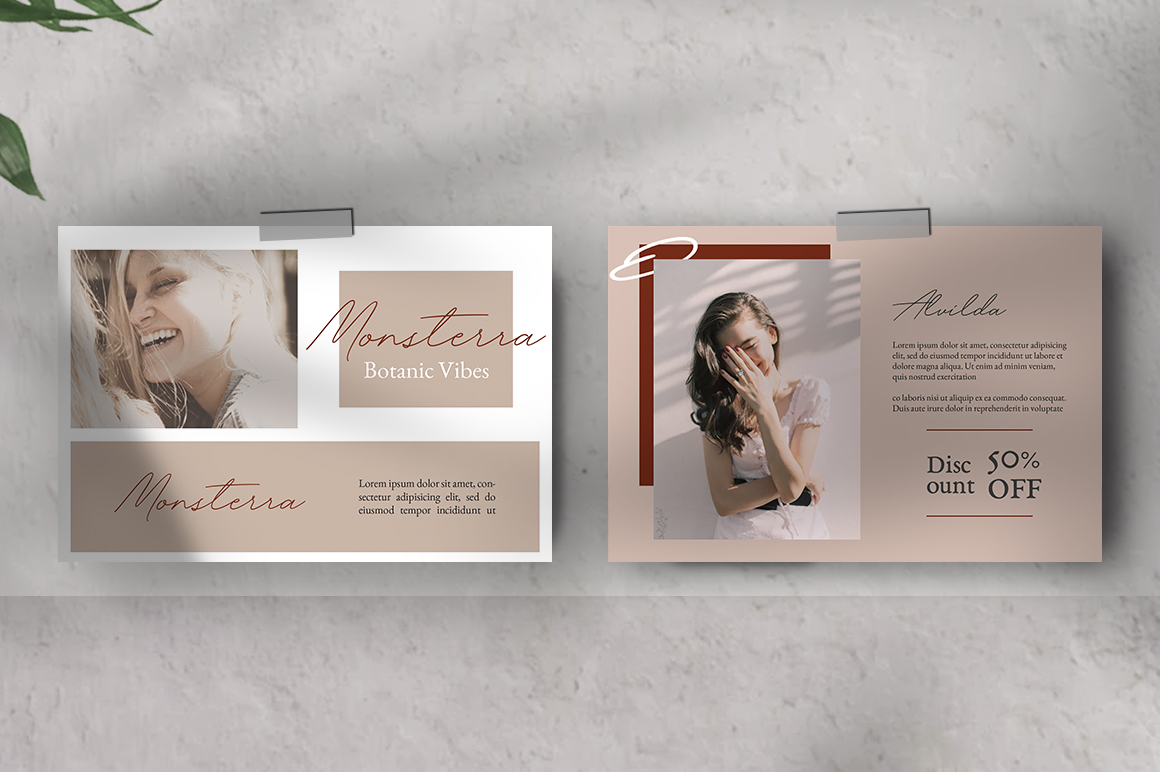 Neutral Postcard Templates example image 3