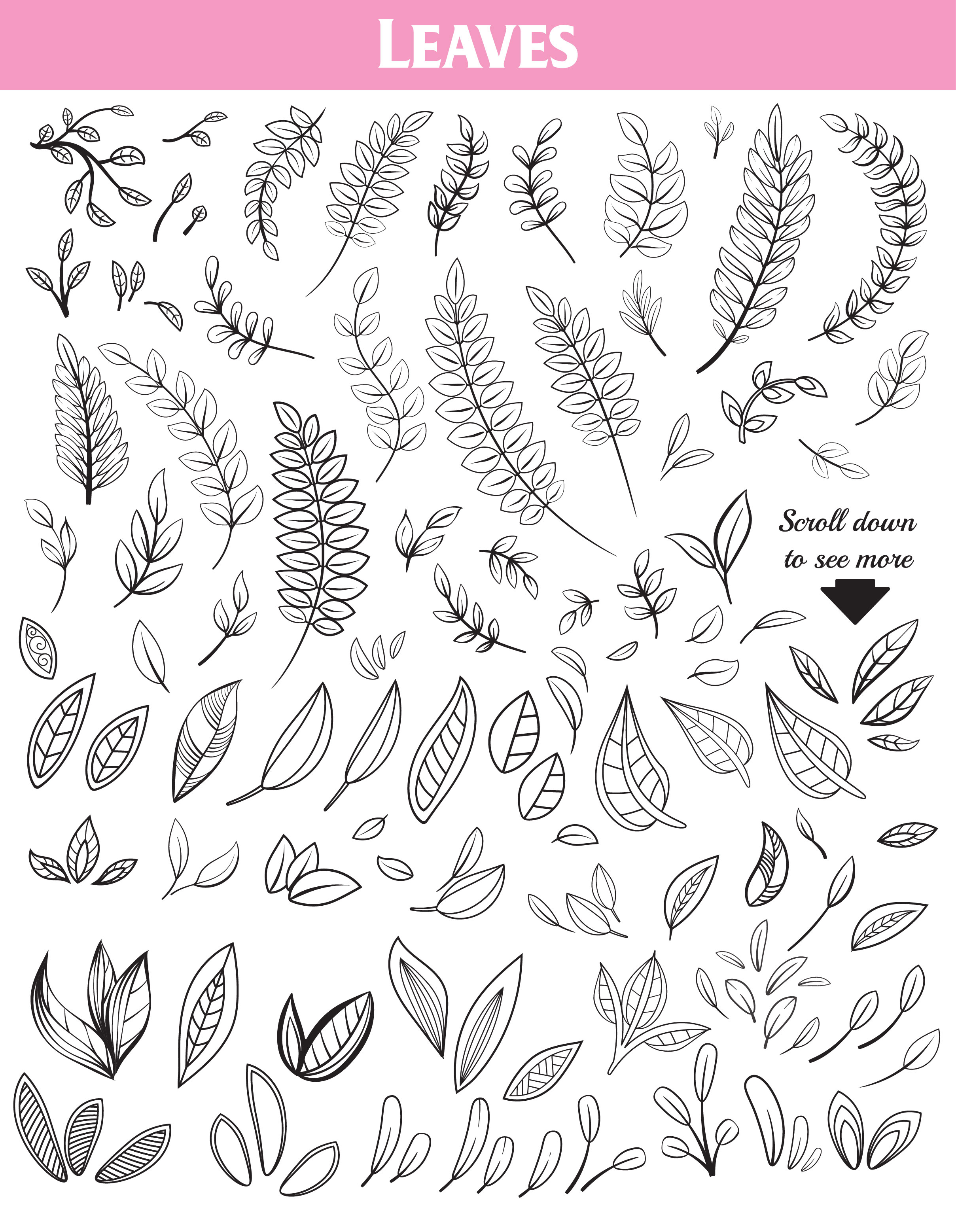 Floral Doodles Collection example image 6