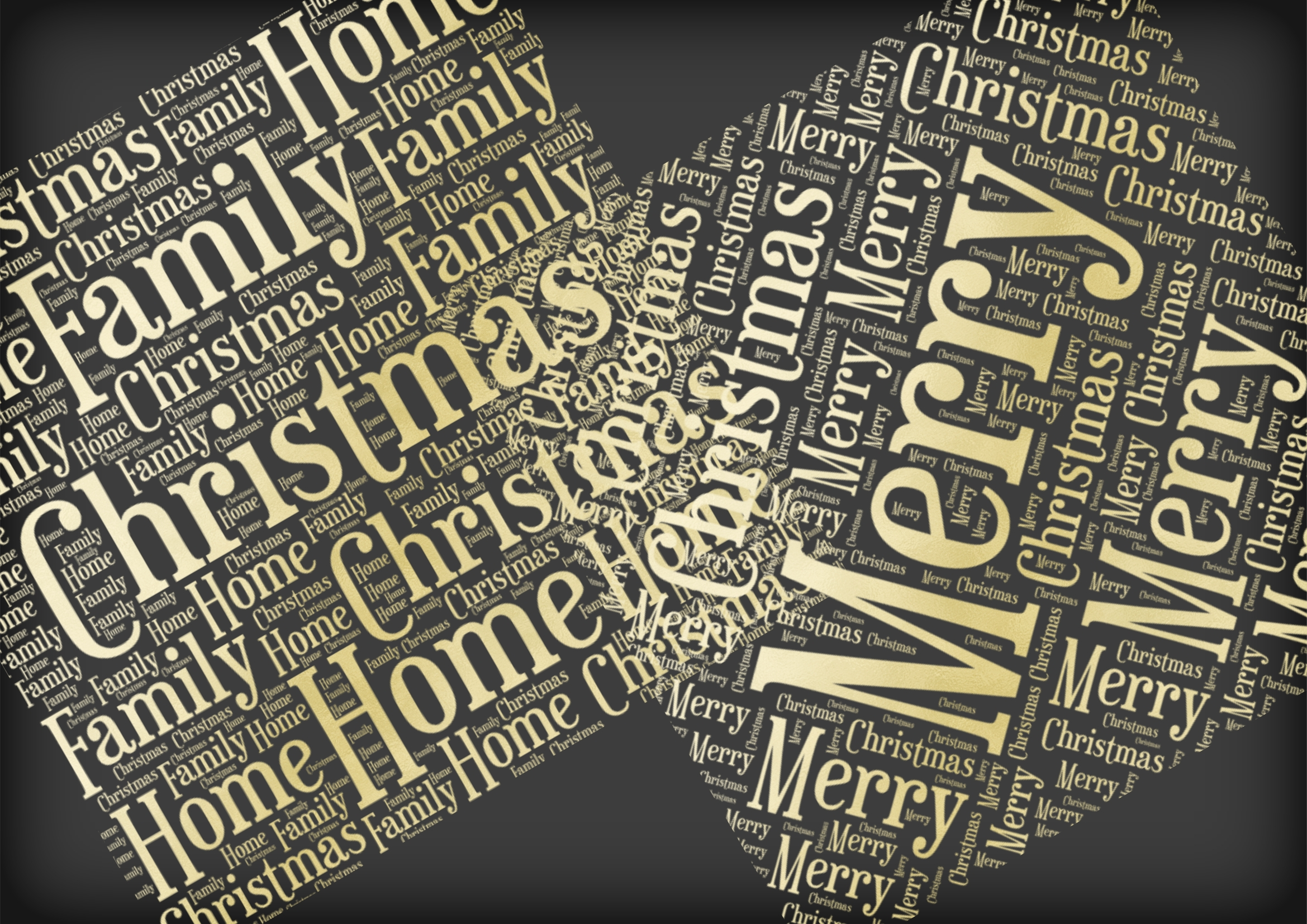 Christmas Soft Gold Word Overlays example image 3