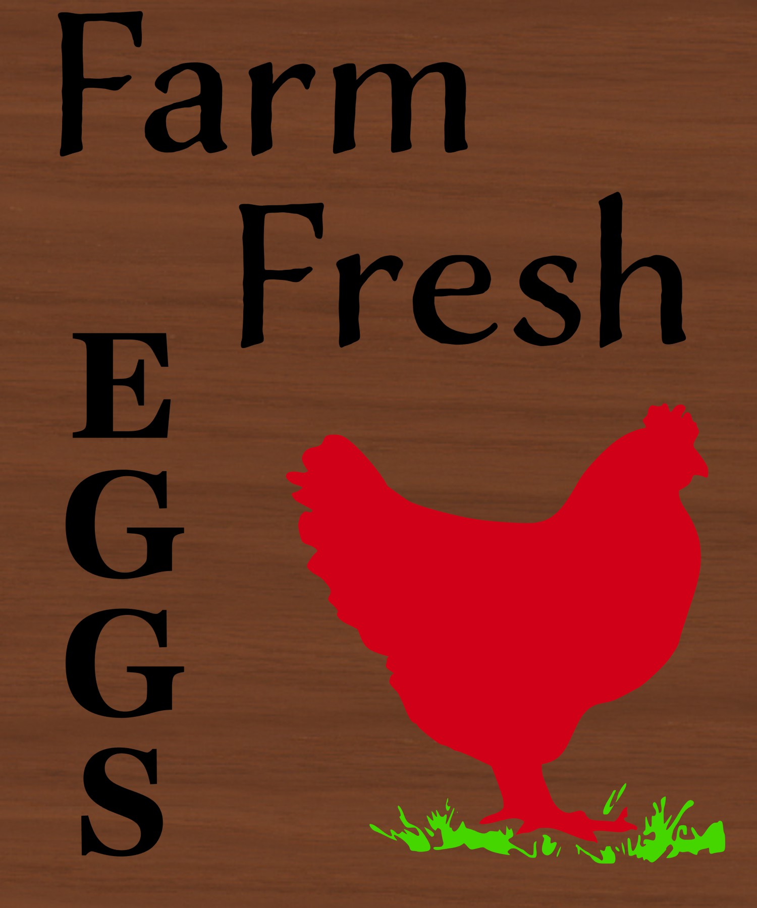 Farm fresh eggs with chicken example image 2