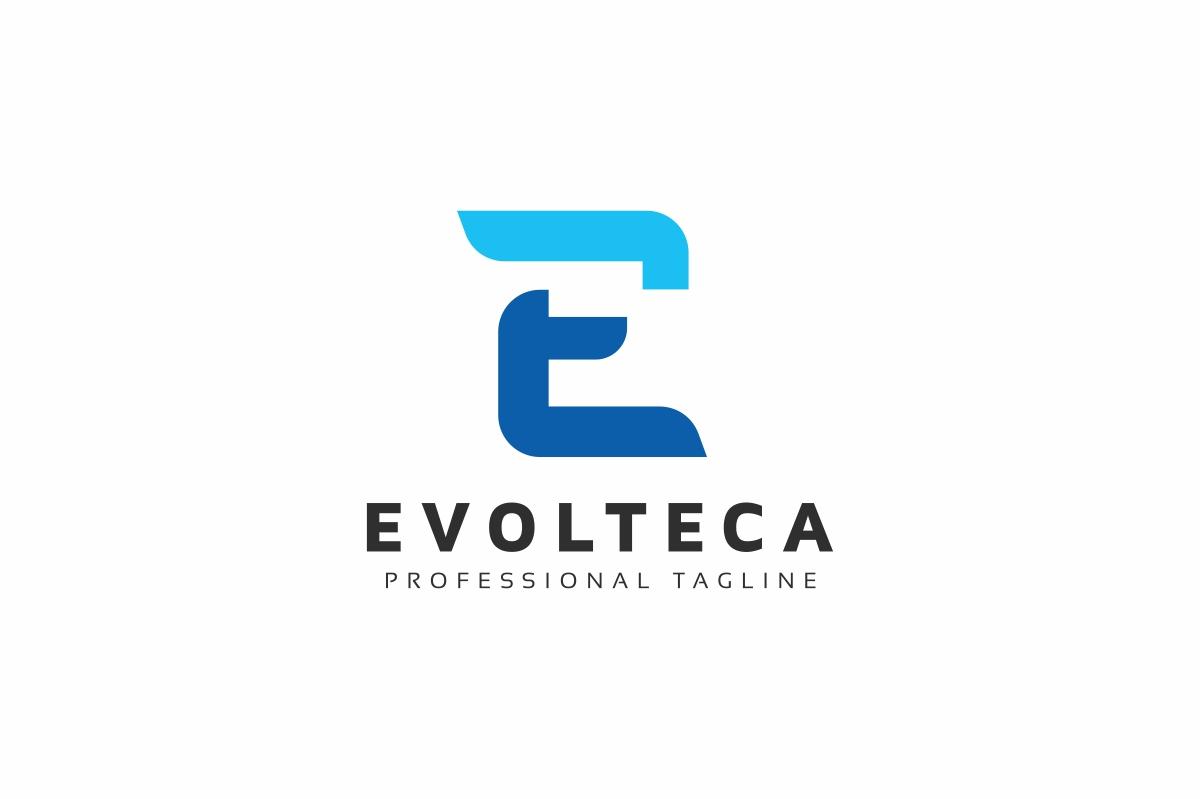 Evolteca E Letter Logo example image 1
